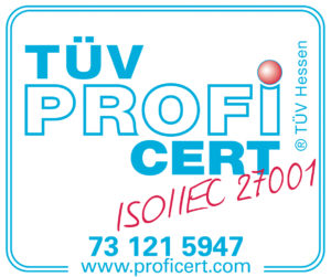 ISO 27001 zertifiziert